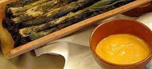 calsots con salsa de romesco