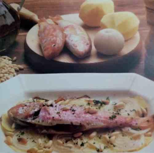 salmonete al horno de menorca