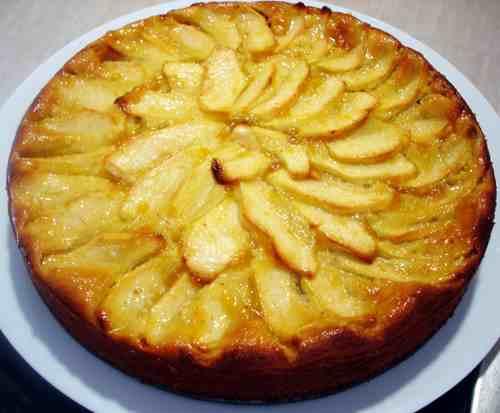 pastel de manzana con aguardiente de sidra