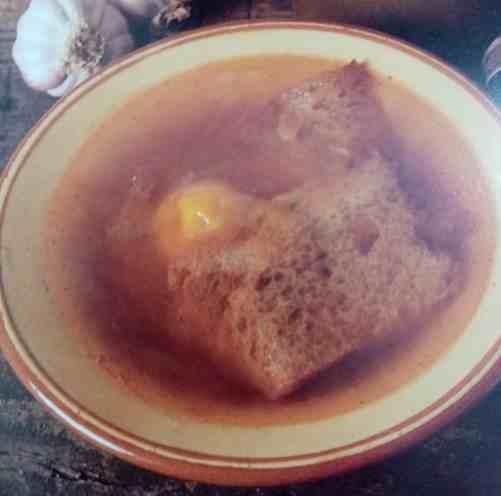 sopa de ajo a lo tia remigia de madrid