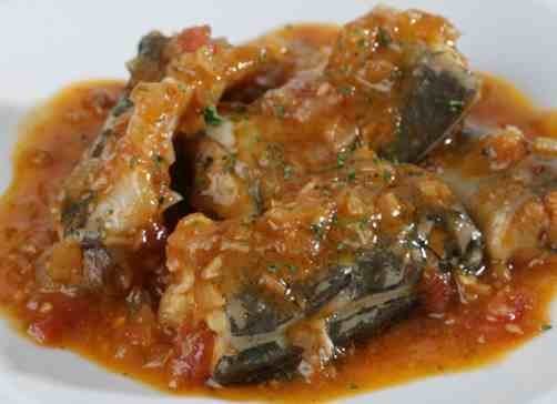 anguilas en salsa de teruel